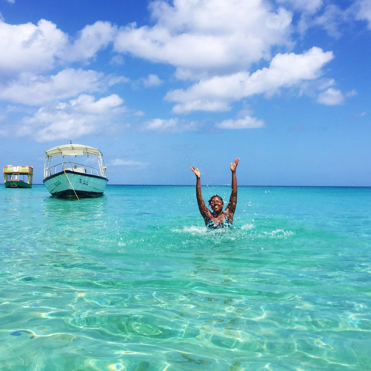 Dr. Tilean swimming in Barbados